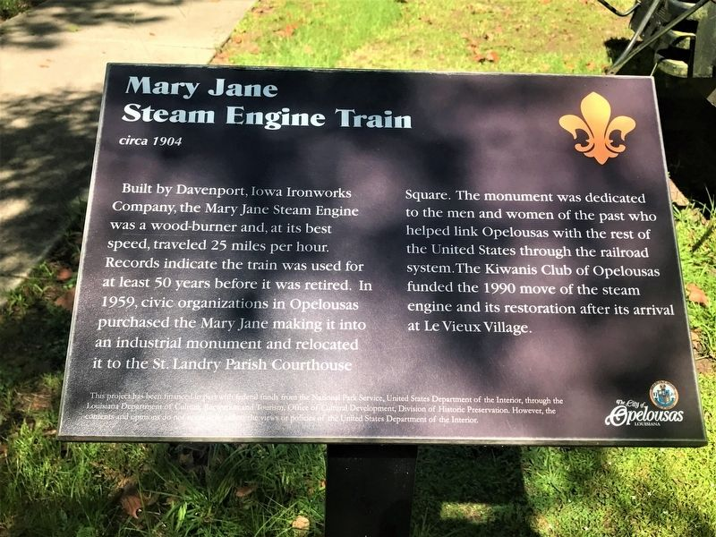 Mary Jane Steam Engine Train Marker image. Click for full size.