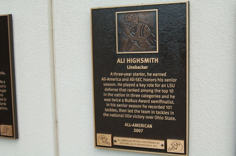 Ali Highsmith Marker image. Click for full size.