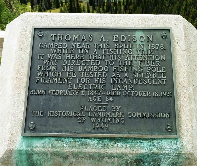 Thomas A. Edison Marker image. Click for full size.