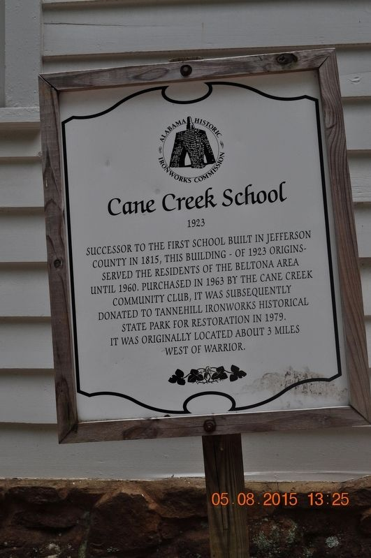 Cane Creek School Marker image. Click for full size.