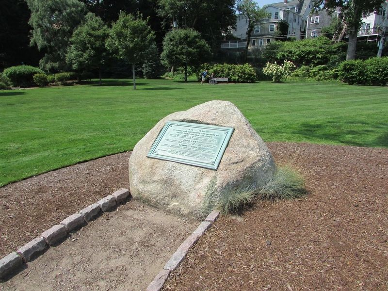 Marker in Brewster Gardens image. Click for full size.