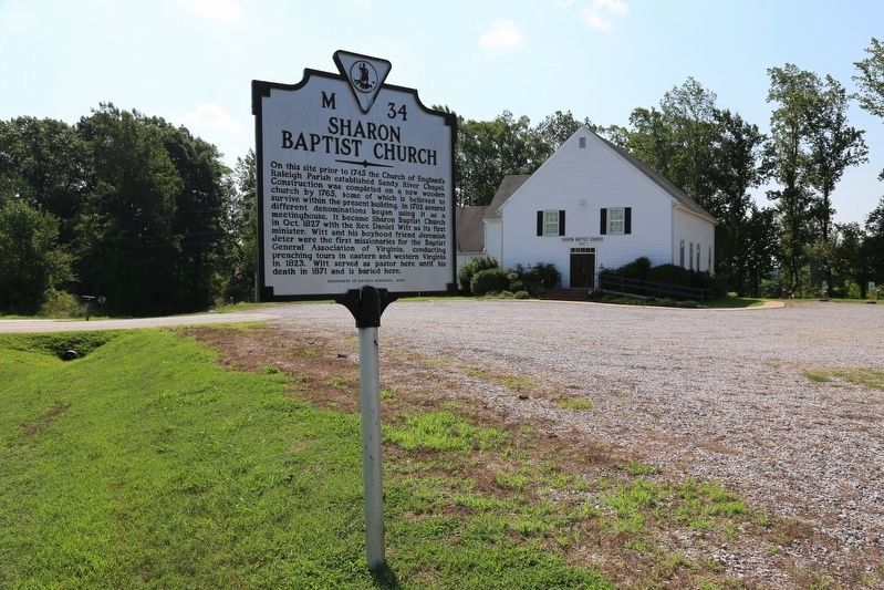 Sharon Baptist Church and Marker image. Click for full size.