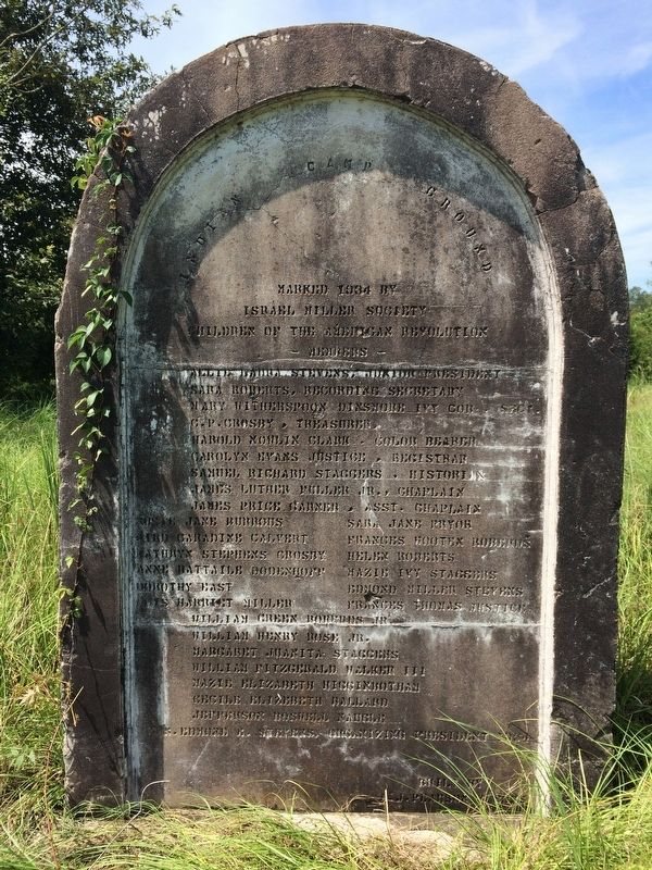 Indian Camp Ground stone on southwest side of highway from this marker. image. Click for full size.