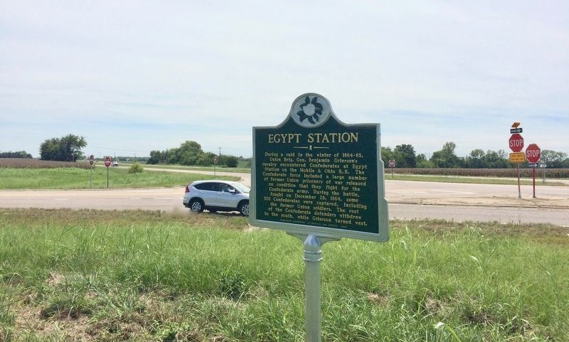 The view from the marker at intersection of U.S. Highway 45 Alt and County Road 406. image. Click for full size.