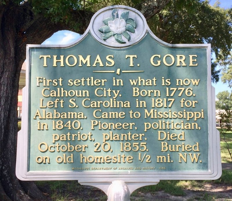 Thomas T. Gore Marker image. Click for full size.