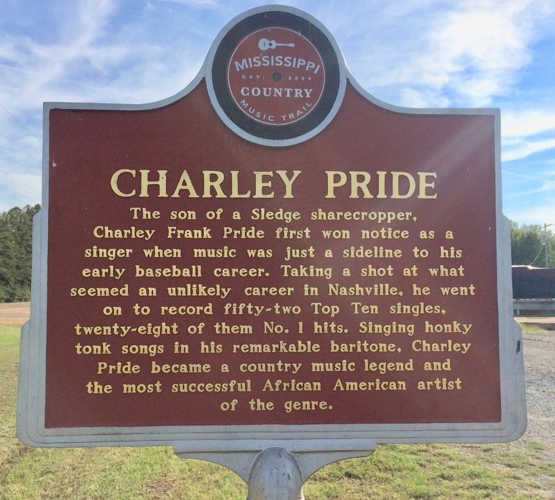 Charley Pride Marker (Front) image. Click for full size.