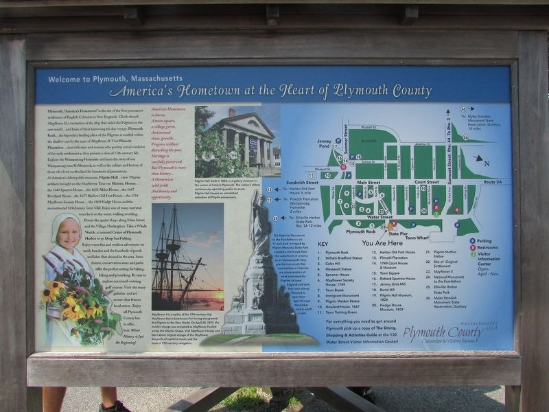 America's Hometown at the Heart of Plymouth County Marker image. Click for full size.