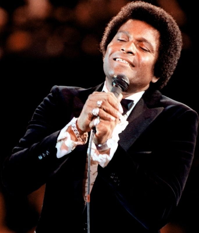 Charley Pride performing at the Capital Centre on the 1981 Inauguration Day. (DOD Photo) image. Click for full size.