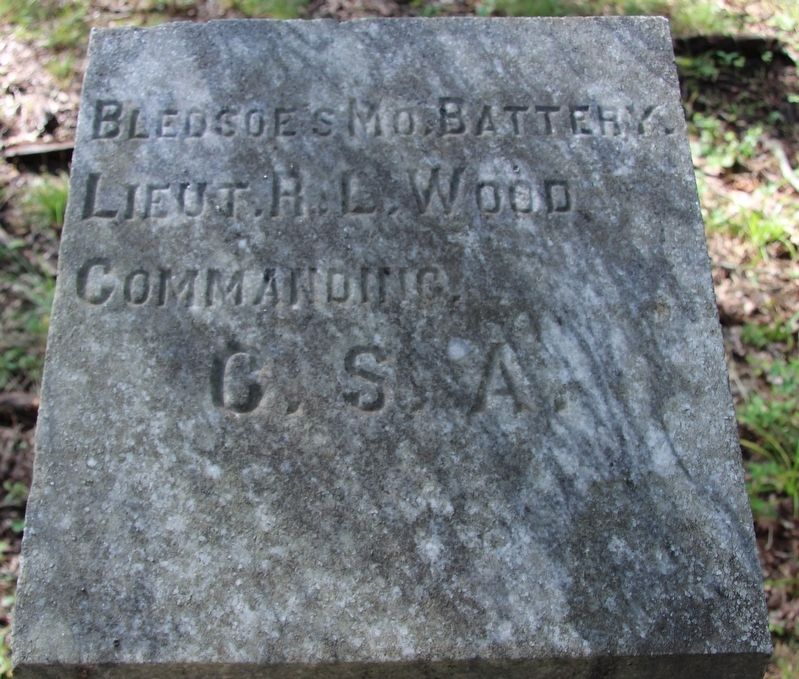 Bledsoe's C.S.A. Missouri Battery Marker image. Click for full size.