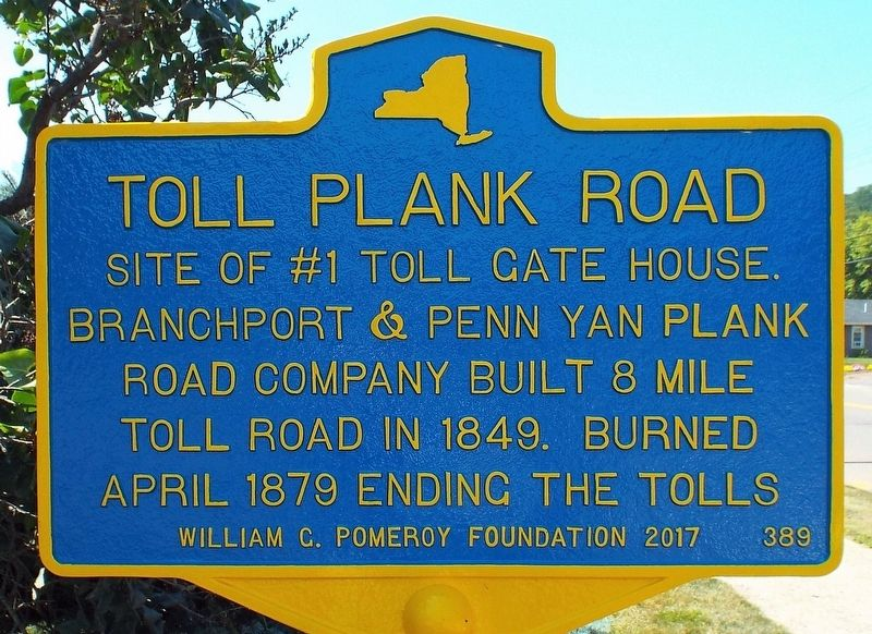 Toll Plank Road Marker image. Click for full size.