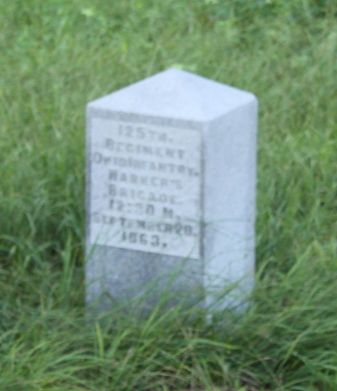 125th Ohio Infantry Marker image. Click for full size.