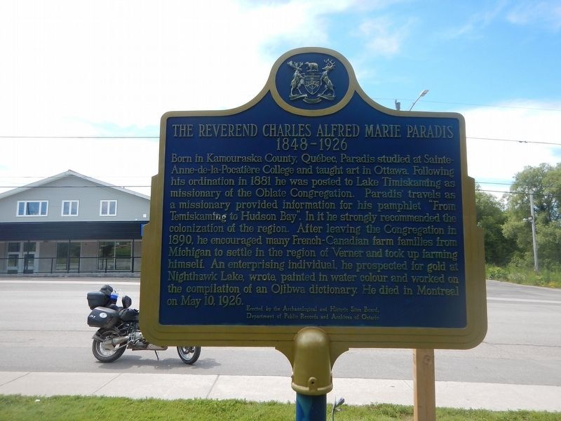 The Reverend Charles Alfred Marie Paradis Marker image. Click for full size.