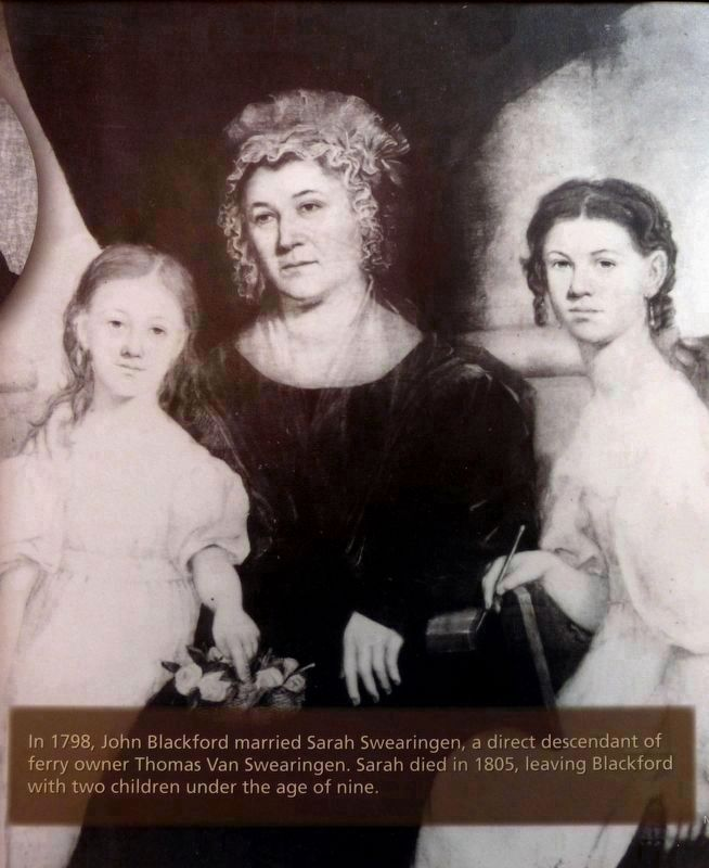 Sarah Swearingen Blackford<br>& her two daughters Benoni and Eliza image. Click for full size.