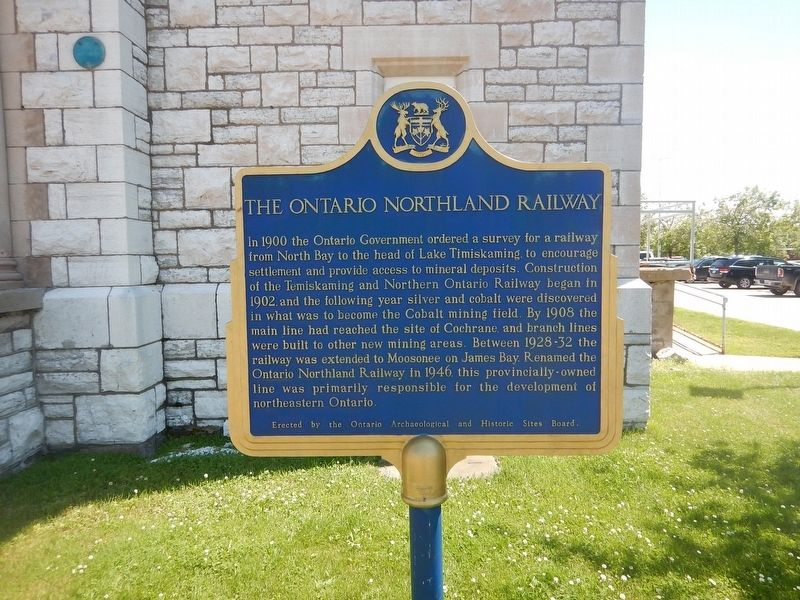 The Ontario Northland Railway Marker image. Click for full size.