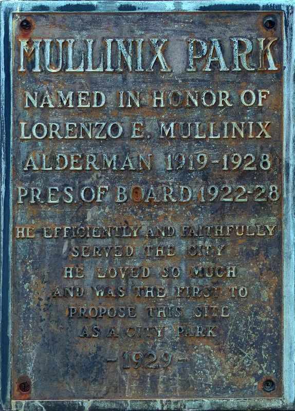 Mullinix Park Marker image. Click for full size.