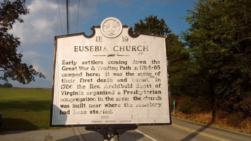 Eusebia Church Marker image. Click for full size.