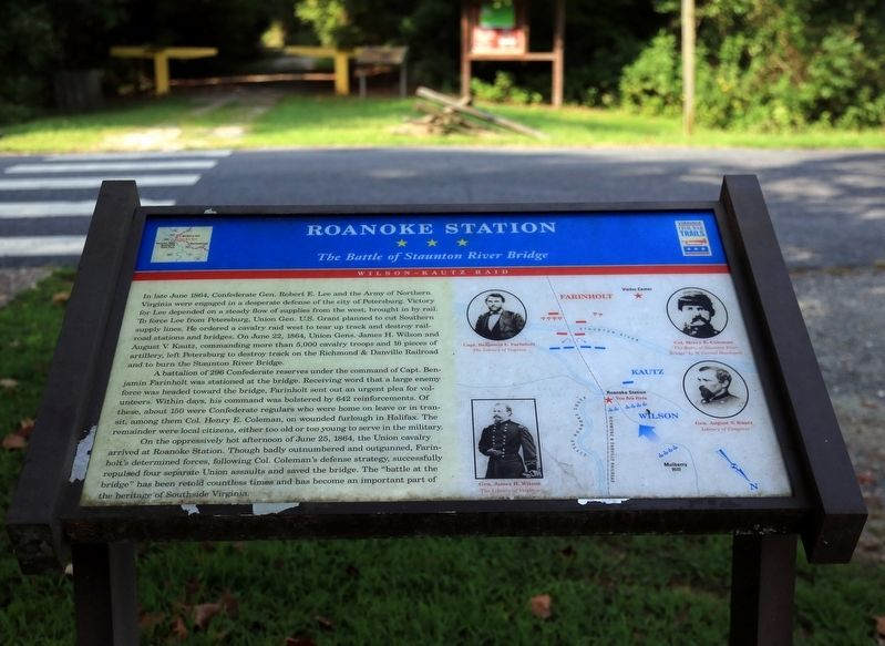 Roanoke Station Marker image. Click for full size.