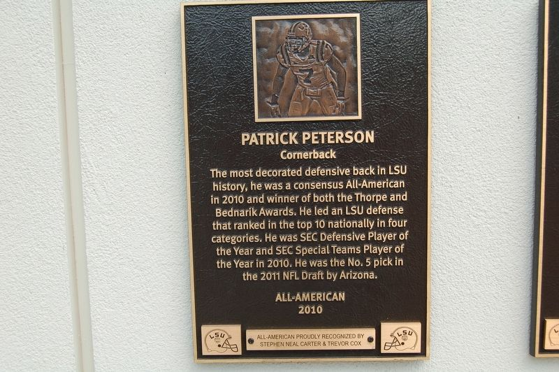 Patrick Peterson Marker image. Click for full size.