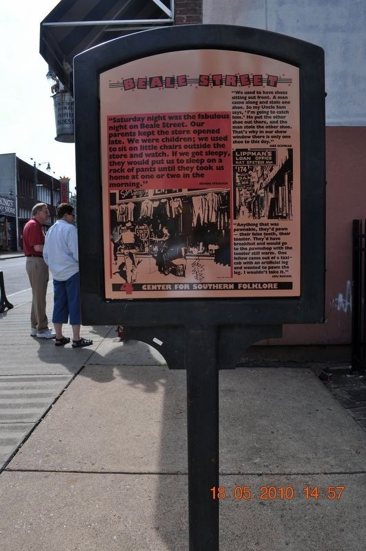 Beale Street #4 Marker image. Click for full size.