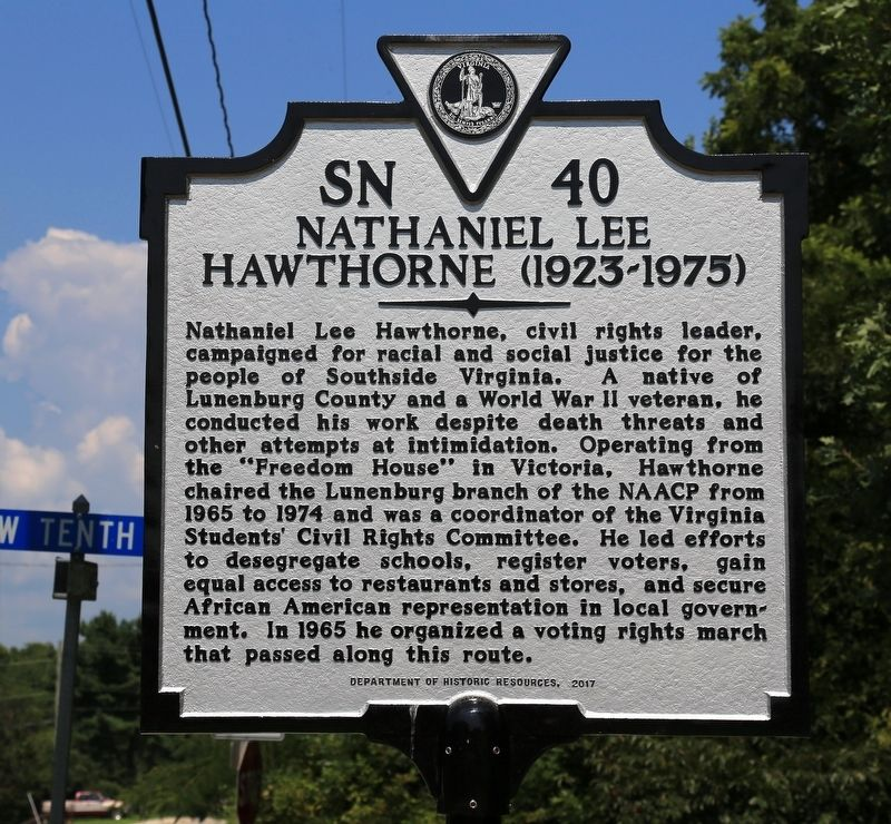 Nathaniel Lee Hawthorne Marker image. Click for full size.