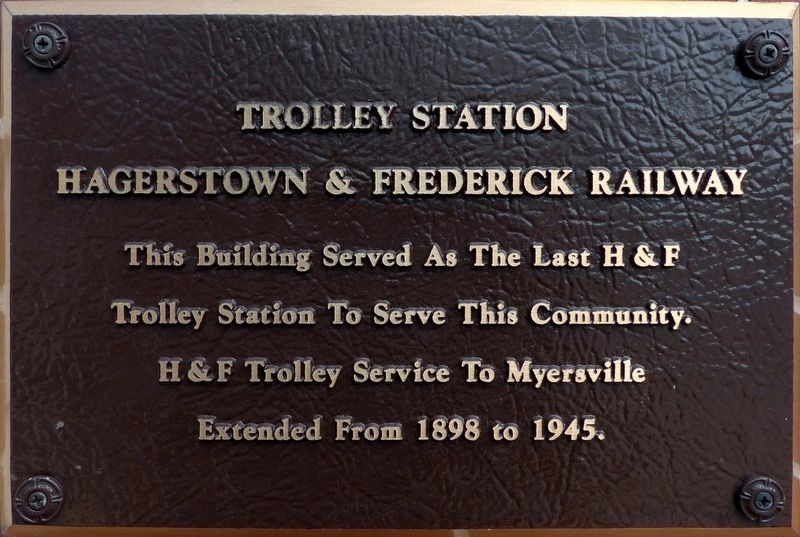 Trolley Station Marker image. Click for full size.