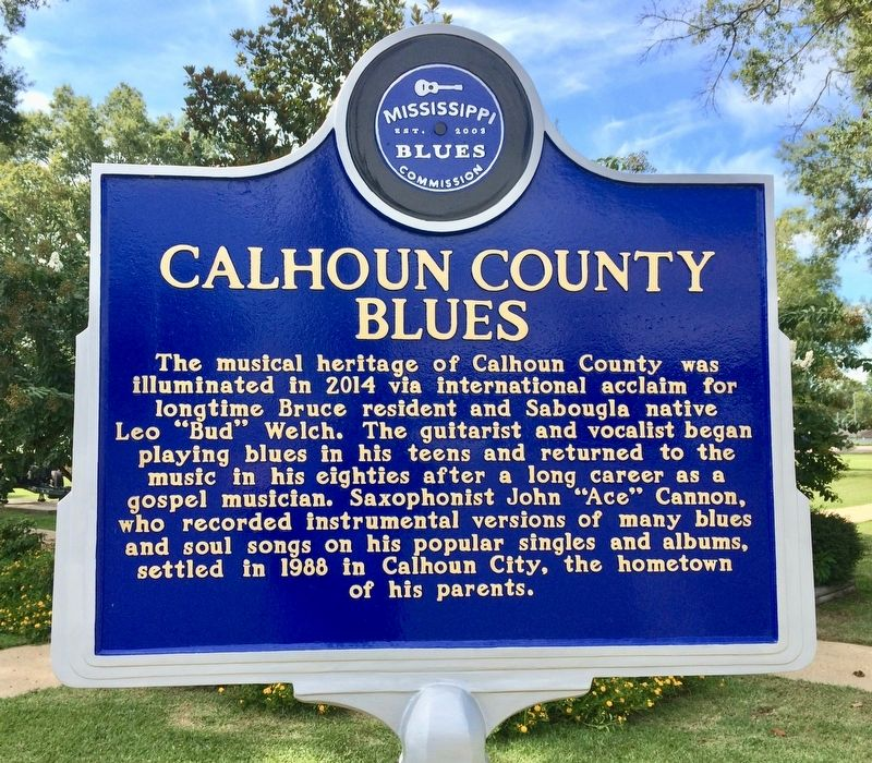 Calhoun County Blues Marker (Front) image. Click for full size.