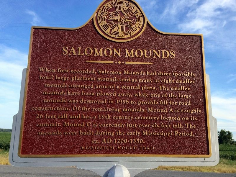 Salomon Mounds Marker (main) image. Click for full size.
