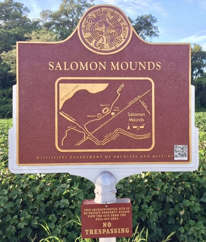 Salomon Mounds Marker (area map drawing) image. Click for full size.
