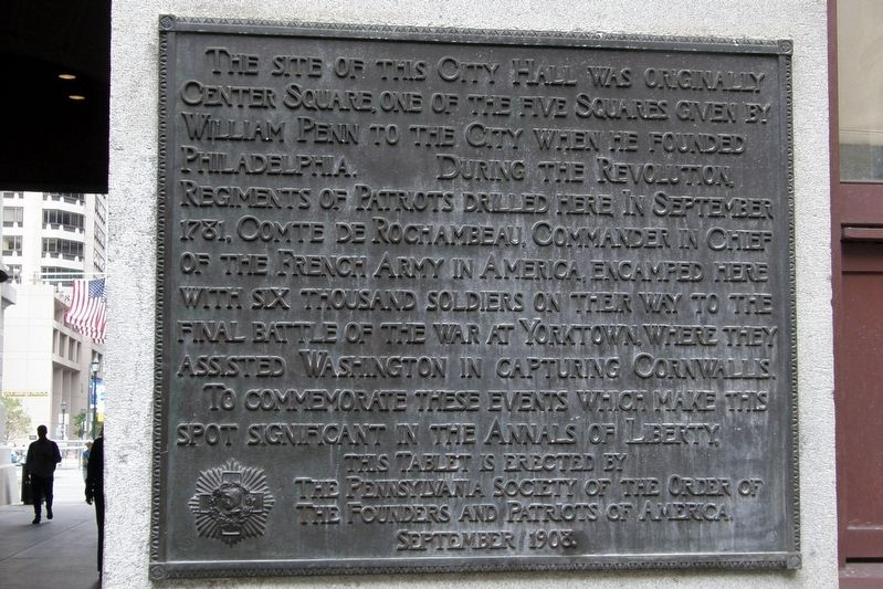 Center Square Marker image. Click for full size.