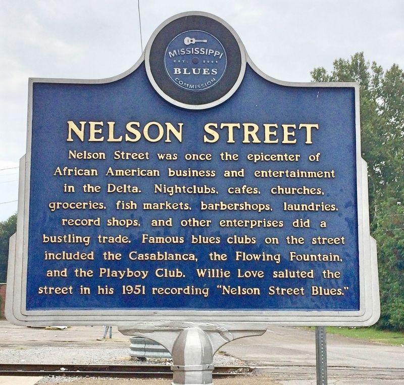 Nelson Street Marker (front) image. Click for full size.