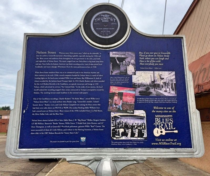 Nelson Street Marker (rear) image. Click for full size.