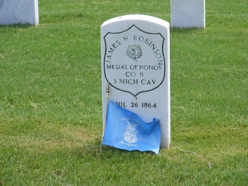 James H. Robinson-Civil War Congressional Medal of Honor Recipient grave marker image. Click for full size.