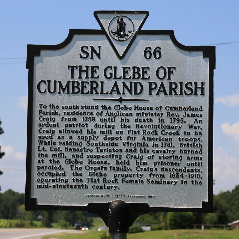 The Glebe of Cumberland Parish Marker image. Click for full size.
