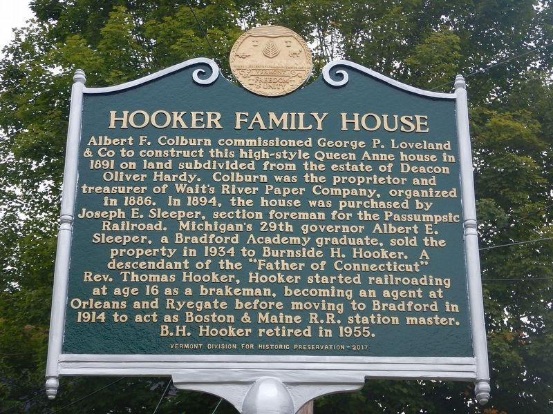 Hooker Family House Marker image. Click for full size.