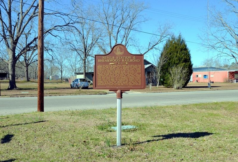 Nevils Station & Shearwood Railroad Marker image. Click for full size.
