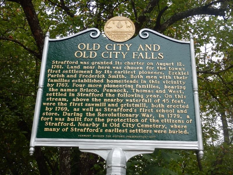 Old City and Old City Falls Marker image. Click for full size.