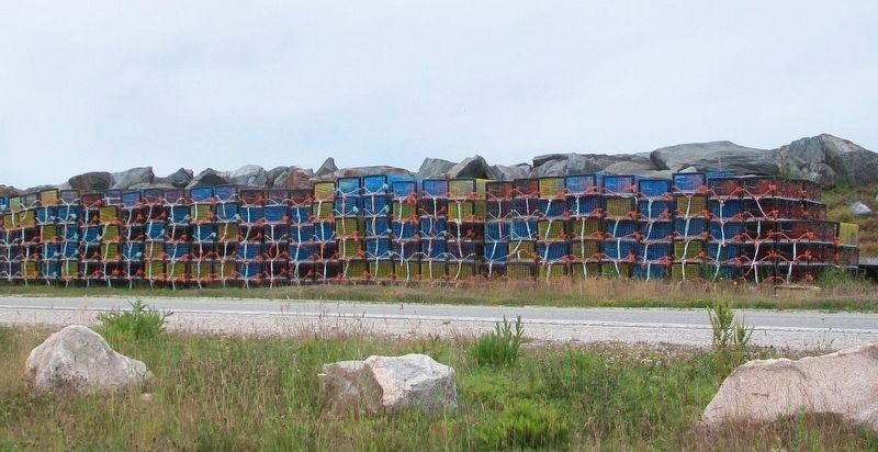 Yarmouth Bar Lobster Traps Awaiting Dumping Day image. Click for full size.