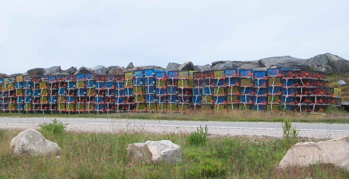 Yarmouth Bar Lobster Traps Awaiting Dumping Day