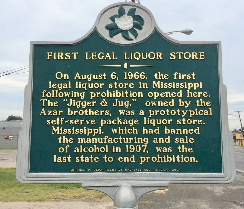 First Legal Liquor Store Marker image. Click for full size.
