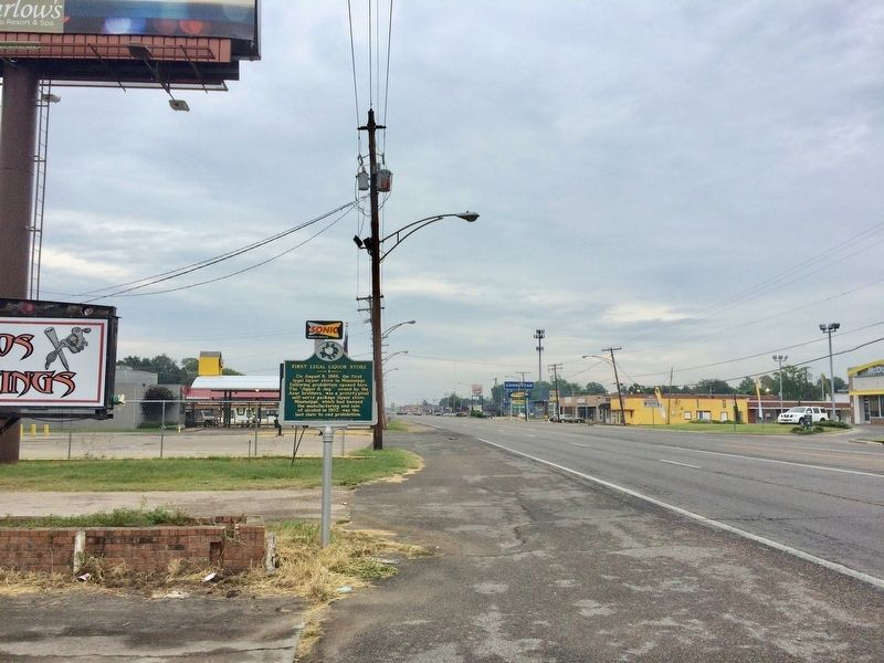 View of marker looking east on US Highway 82. image. Click for full size.