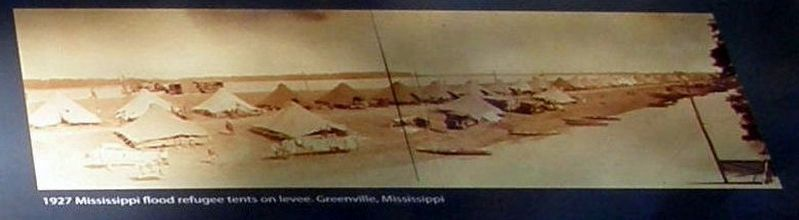 Insert - Mississippi River Flood refugee camp image. Click for full size.