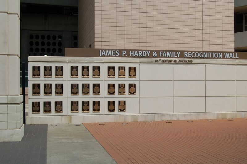 The James P. Hardy & Family Recognition Wall image. Click for full size.