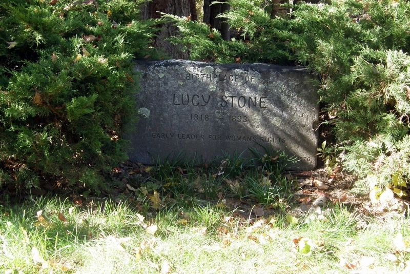 Granite stone marker at the site image. Click for full size.
