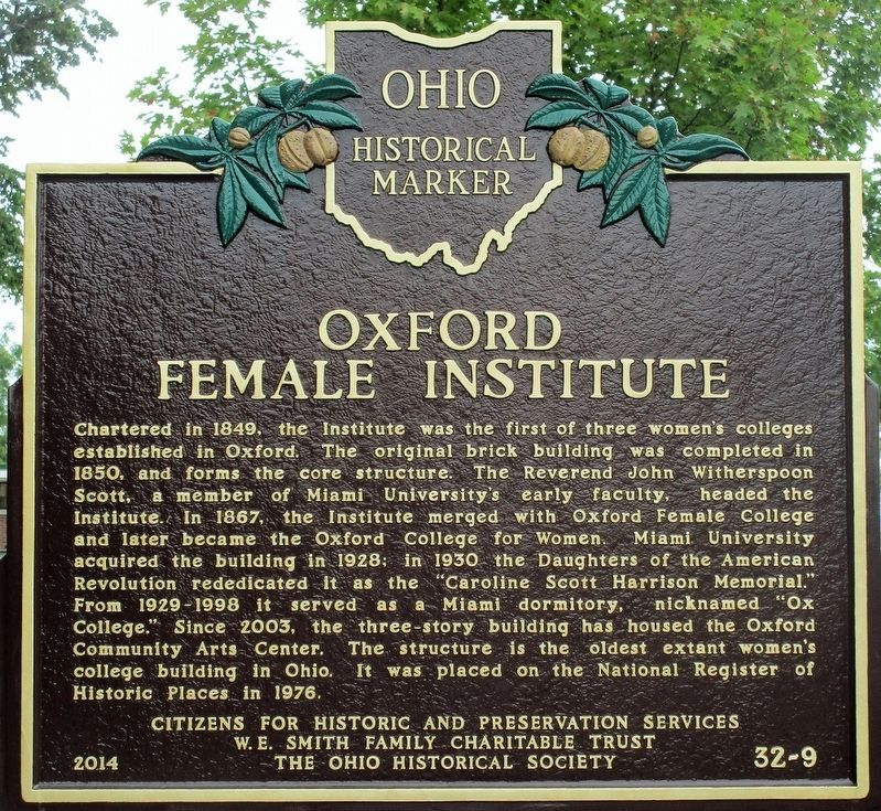 Oxford Female Institute Marker image. Click for full size.