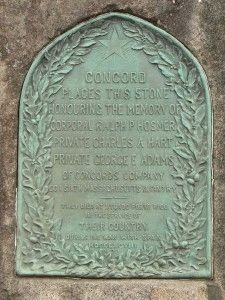 Concord Massachusetts Spanish American War Memorial Marker image. Click for full size.