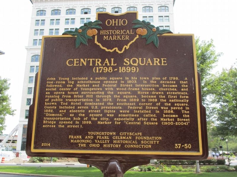 Central Square (1798-1899) Side of Marker image. Click for full size.