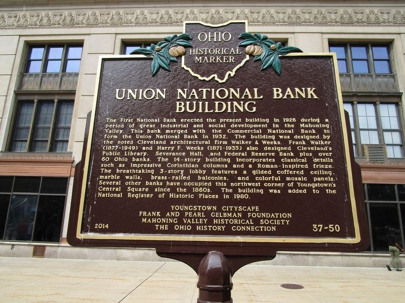 Union National Bank Building Side of Marker image. Click for full size.