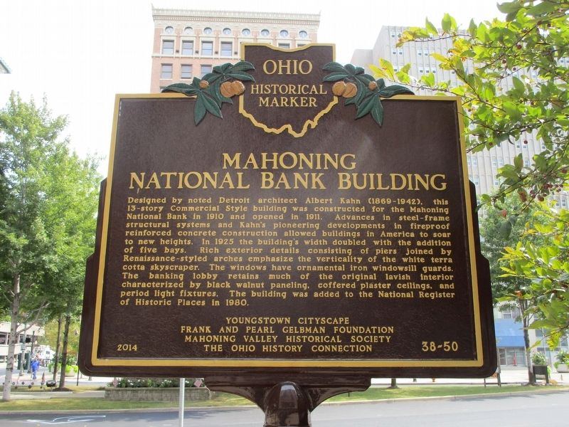 Mahoning National Bank Building Marker image. Click for full size.