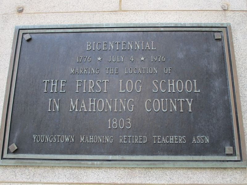 The First Log School Marker image. Click for full size.