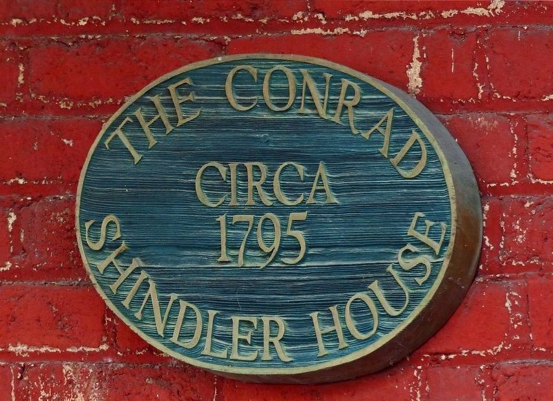 The Conrad Shindler House<br>circa 1795 image. Click for full size.